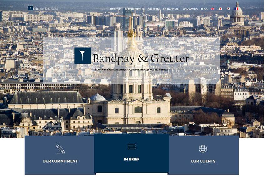 Site web du Cabinet Bandpay & Greuter